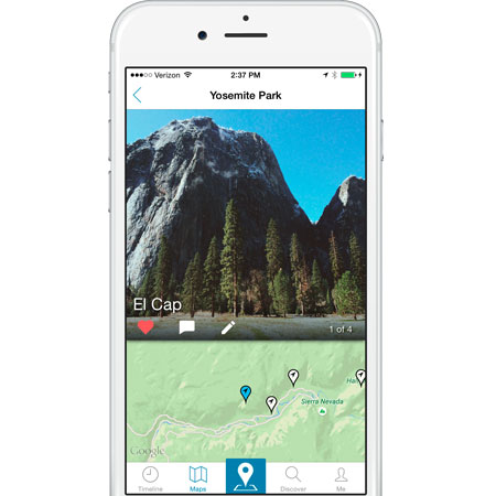 SaraGEO for iOS | Create maps of the people and places you care about most